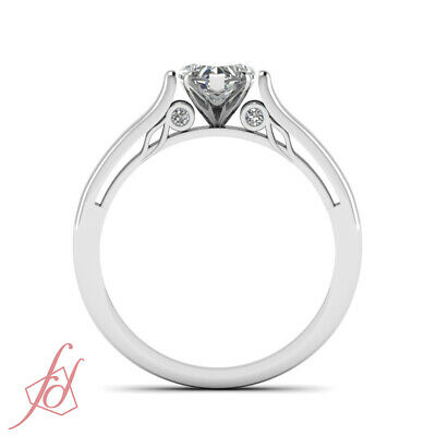 Cathedral Wedding Ring With 1/2 Ct Heart Shape Natural GIA Certified Diamond GIA 4