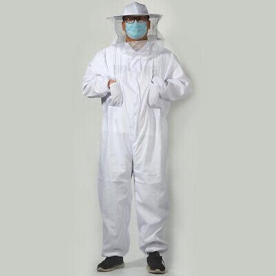 Beekeeper Protect Bee Keeping Suit Jacket Safty Veil Hat Body Equipment Hood - L
