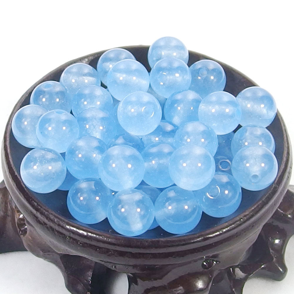 Bulk Gemstones I natural spacer stone beads 4mm 6mm 8mm 10mm 12mm jewelry design light blue jade