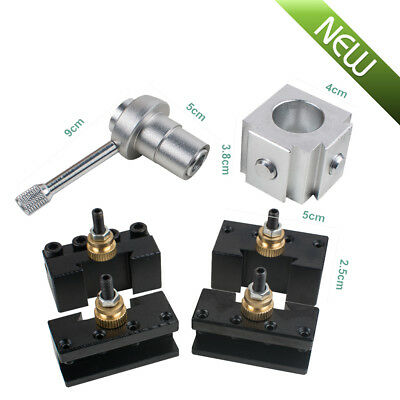 Metal Quick Change Tool Post Holder Boringturning Facing Holder Kit Set Lathe