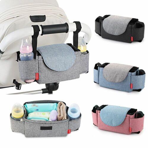 Baby Stroller Cotton Organizer Diaper Bag Pushchair Bottle Storage For Travel