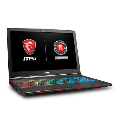 "MSI GP63 Leopard 8RE-077US 15.6"" FHD 1TB HDD + 256GB SSD 2.2GHz i7 16GB RAM VR R"
