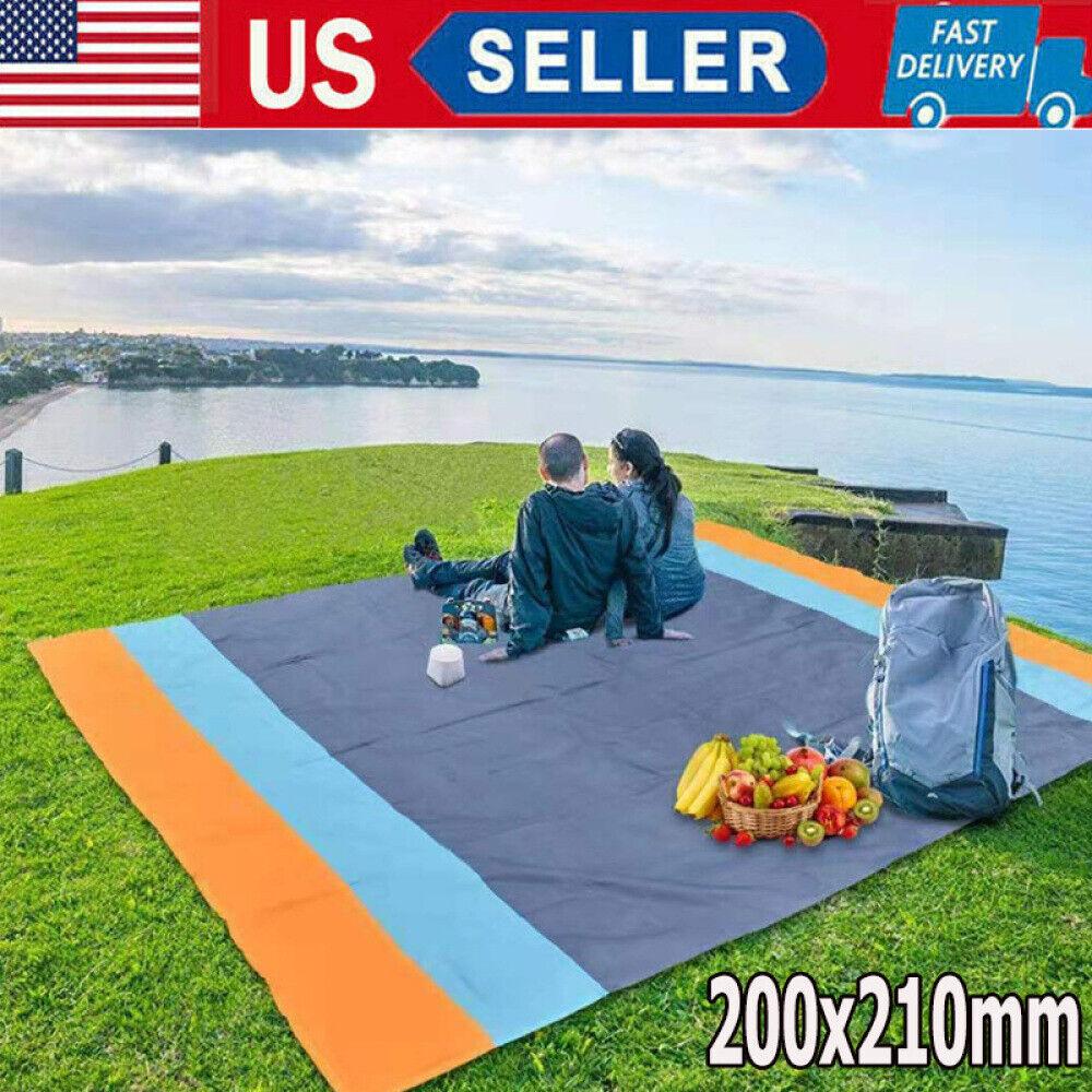 Large Waterproof Picnic Blanket Travel Beach Camping Soft Ma