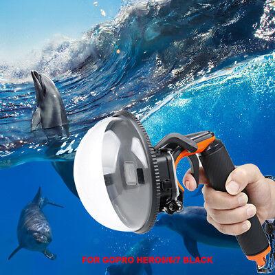Dome Port Unterwasser Tauchen Kamera Objektivdeckel für GoPro Hero 5 6 7 Schwarz