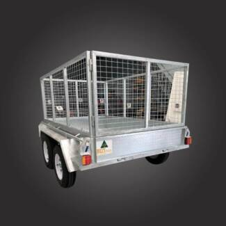 8x5 Hot Dipped Tandem Box Trailers With Cage Campbellfield Hume Area Preview