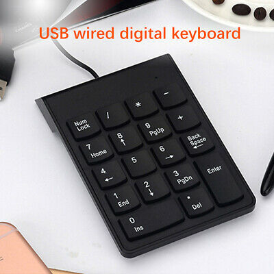Portable USB Wired Number Pad Numeric Keypad Keyboard for Laptop PC New