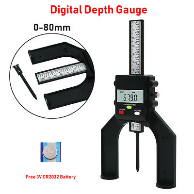 New 80mm Lcd Digital Height Depth Gauge Tester Measure For Woodworking Table Saw