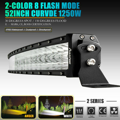 52inch Led Light Bar Curved Spot Flood Combo Work Driving Offroad Truck SUV 50""