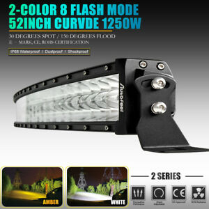 52inch Led Light Bar Curved Spot Flood Combo Work Driving Offroad Truck SUV 50