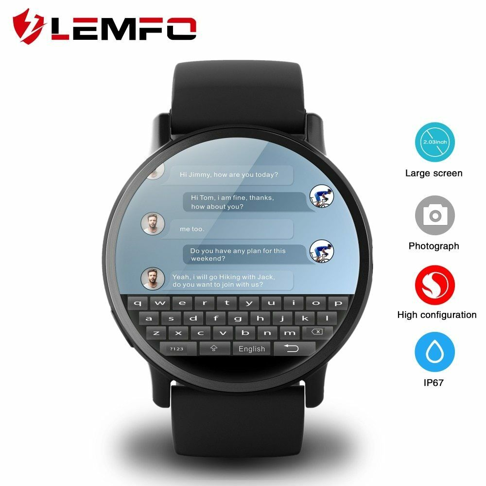 LEMFO LEM X 4G Smart Watch Android 7.1 With 8MP Camera GPS 2