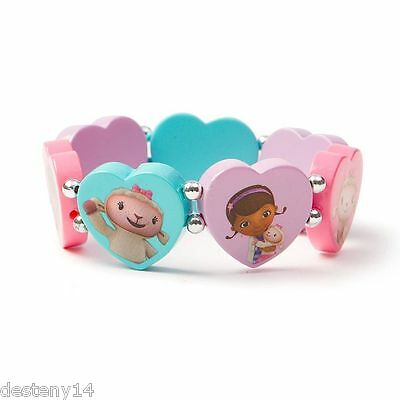 Disney Junior Doc McStuffins Heart Tile Girl Bracelet Pastel Multi Color Lambie ](Doc Mcstuffins Bracelet)
