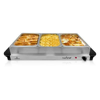 NEW NutriChef PKBFWM33 Food Warming Tray / Buffet Server / Hot Plate Warmer
