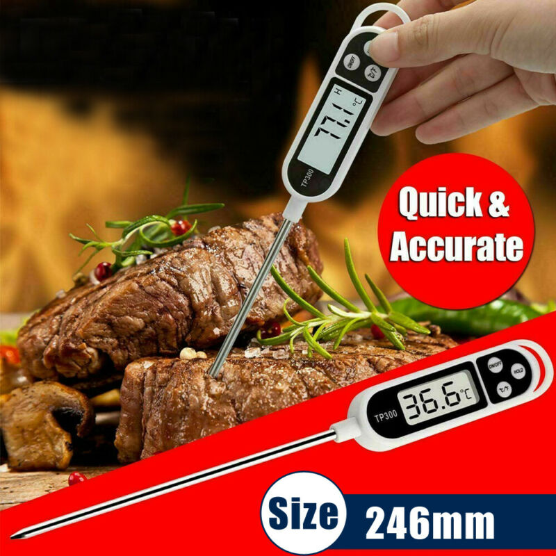 Digital Thermometer For Meat Milk Water Cooking Food Probe B