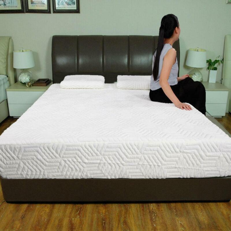 """Hot 10"""" Full Size 3-Layer COOL Medium-Firm Memory Foam Mattress 2 Pillows NEW"""