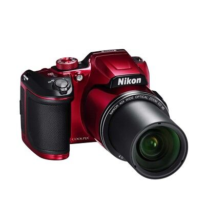 Nikon B500-RED Coolpix Wi-Fi Digital Camera (Red)