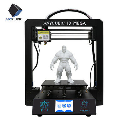 "US Supply ANYCUBIC I3 Mega 3D Printer Upgrade All-Metal Frame Ultrabase 3.5"" TFT"