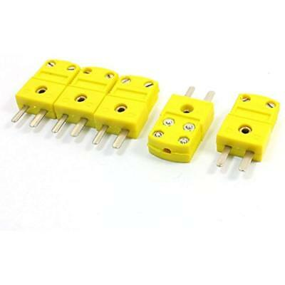 K Type Thermocouple Connector Adapter Yellow For Mini Plug Temperature Sensors