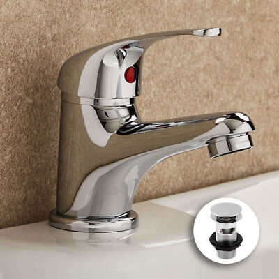 Single Lever Bathroom Basin Sink Mono Mixer Tap Chrome + FREE WASTE! TDY005