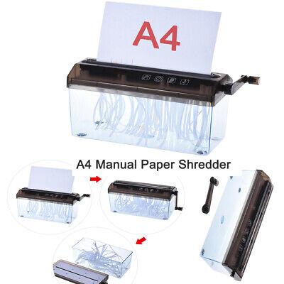 "9"" Paper Shredder Commercial Home Office Document Strip Cut paper Destory O0D6"