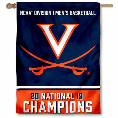 University of Virginia 2019 Basketball National Champions House Banner Flag](Basketball Banners)