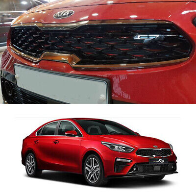 Genuine Parts Front Radiator Grill GT Line RED+Black Color For Kia Forte 2019+