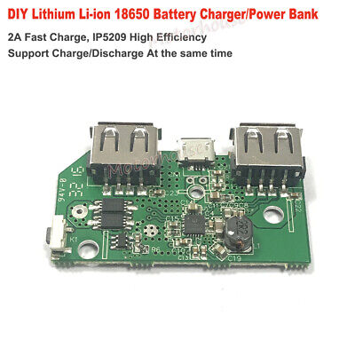 5v 2a Usb 3.7v Lithium Li-ion 18650 Battery Charger Pcb Module Diy Power Bank