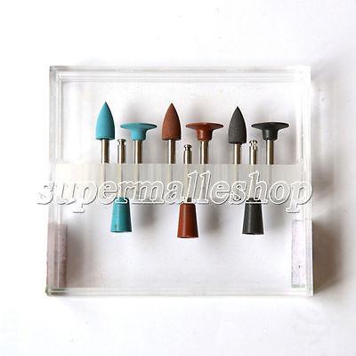 9pcskit Dental Lab Silver Amalgam Silicone Polisher Diamond Burs Cups Ra0109
