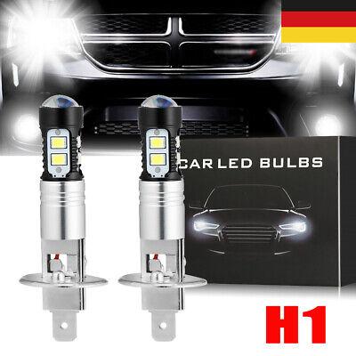 2x H1 LED Auto COB NebelScheinwerfer Kit Weiß Fernlicht Lampen VS XENON Halogen