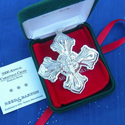 NEW • Reed & Barton 2000 CHRISTMAS CROSS Sterling Silver Ornament 30th Edition