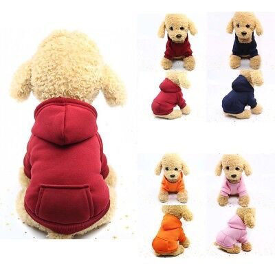 Pets Dogs Cats Puppy Sweater Hoodie Coat For Small Pet Dog Warm Costume Apparel