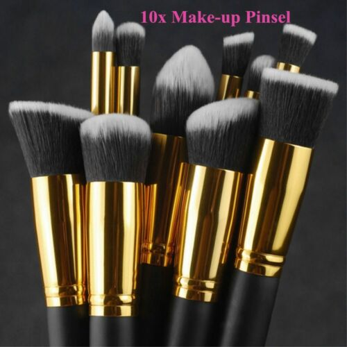10Pcs/Set Pro Make-up Pinsel Kosmetik Augenschminke Gesichts Puder Lippenpinsel