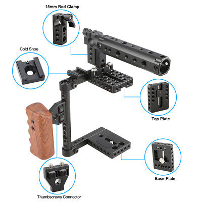 US CAMVATE Universal DSLR Camera Cage Kit W/ shoe mount for Canon Nikon Song GH5
