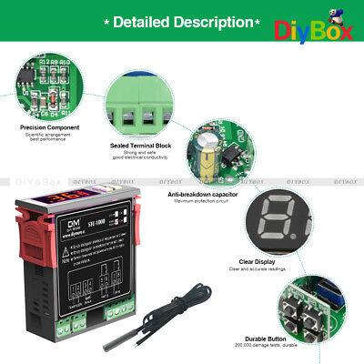 Stc-1000 Digital 110-220vac Temperature Controller Thermostat Aquarium Sensor