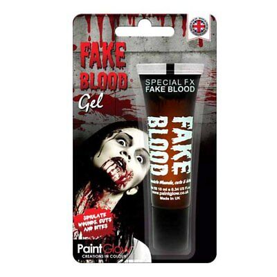 Halloween Fake Wounds (Paint Glow 10ml Fake Blood Gel Special Fx Halloween Make Up Wounds Cuts)