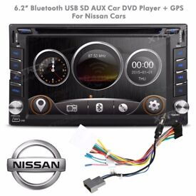 Nissan Qashqai Navara Micra Juke Car Audio Bluetooth Stereo GPS CD Radio DVD USB AUX SD Player