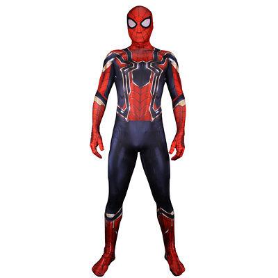 Avengers 3 Infinity War Peter Parker Costume Spider Man Cosplay Halloween Suit