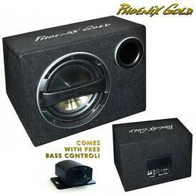 """Phoenix Gold Z110AB 10"""" 320W Subwoofer Active Subwoofer Box with Wiring & Bass Control Included"""