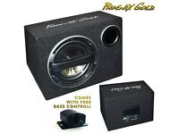 "Phoenix Gold Z110AB 10"" 320W Subwoofer Active Subwoofer Box with Wiring & Bass Control Included"