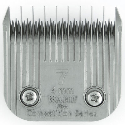 Wahl Competition Blade #7 - Leaves 4mm - Fits Andis, Oster, A5, used for sale  Shipping to Ireland