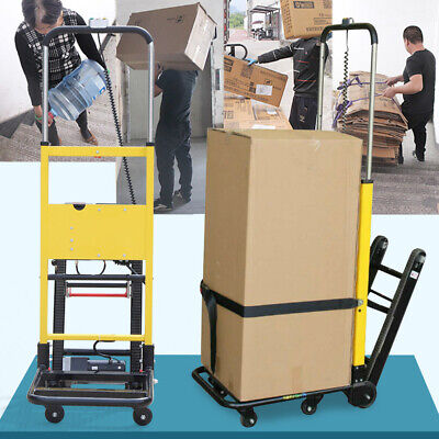 180kg Stair Climbing Electric Hand Truck Folding 6-wheel Helping Hand Cart Dolly