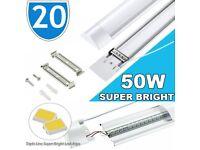 20x LED Batten Lighting Wholesale Ceiling Wall Indoor Garage Parking 5FT Tube Fitting