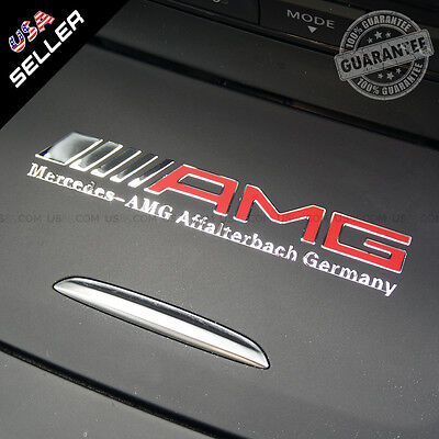 Car AMG Interior Emblem Aluminum Decal Sticker Badge Decoration Logo Gift