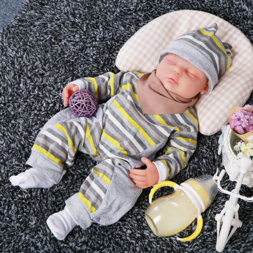 """IVITA 18"""" Silicone Reborn Baby Doll Children Playmate Toy Baby+Clothes Xmas Gift"""