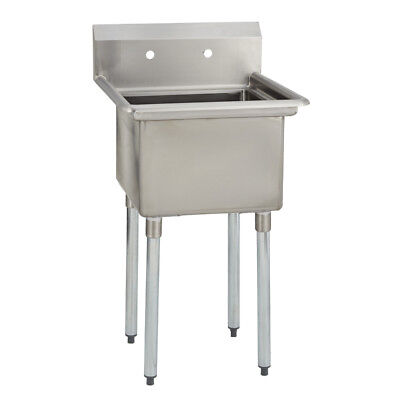 1 One Compartment Commercial Stainless Steel Utility Prep Mop Sink 25 X 25.5
