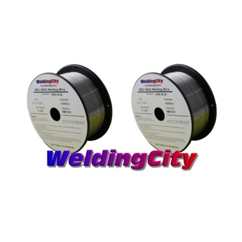 "WeldingCity 2 Rolls Gasless Flux-Core MIG Welding Wire E71T-GS .035"" 0.9mm 2-lb"