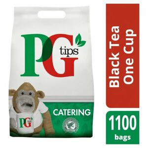 PG Tips Tea Bags 1100 1 Cup Pyramid Teabags 2.2kg Office Catering Supplies Bulk