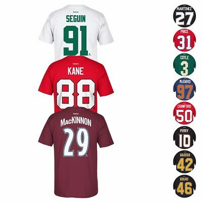 2017 Nhl Reebok Official Premier Team Player Name   Number Jersey T Shirt Mens