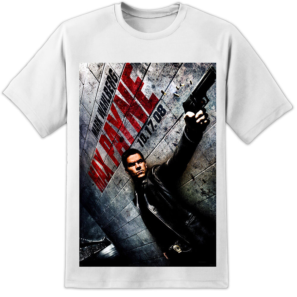 Max Payne Movie Poster T Shirt Mark Wahlberg Dvd High Quality