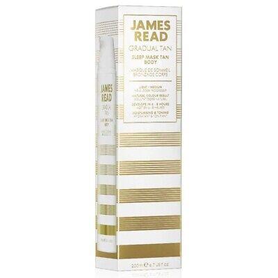 JAMES READ Sleep Mask Gradual Overnight Tan For Body 200ml LIGHT/MEDIUM Self-tan