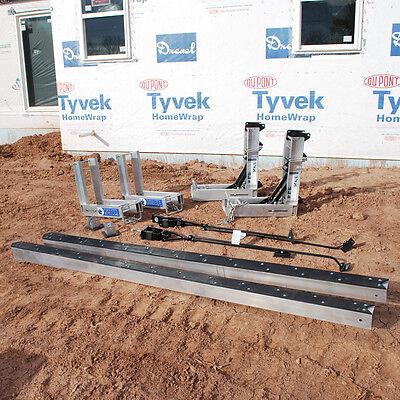 Titan Basic Pump Jack Package Includes- 2 24 Aluminum Poles 2 Pump Jacks